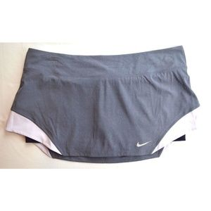 Nike Heathered Woven Tennis Skort Grey Lavander